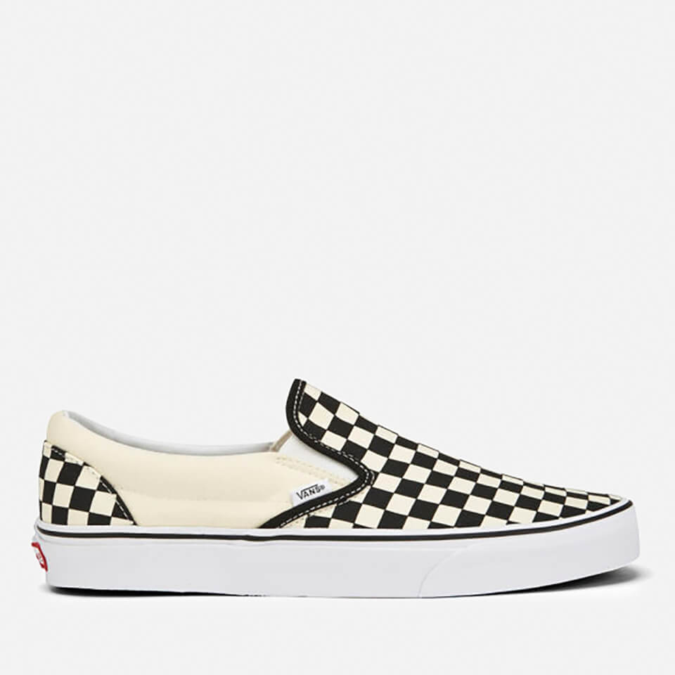 Vans Classic Slip-On Trainers - Black/White Checkerboard - UK 8