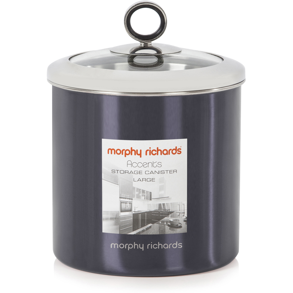 morphy-richards-accents-large-storage-canister-black