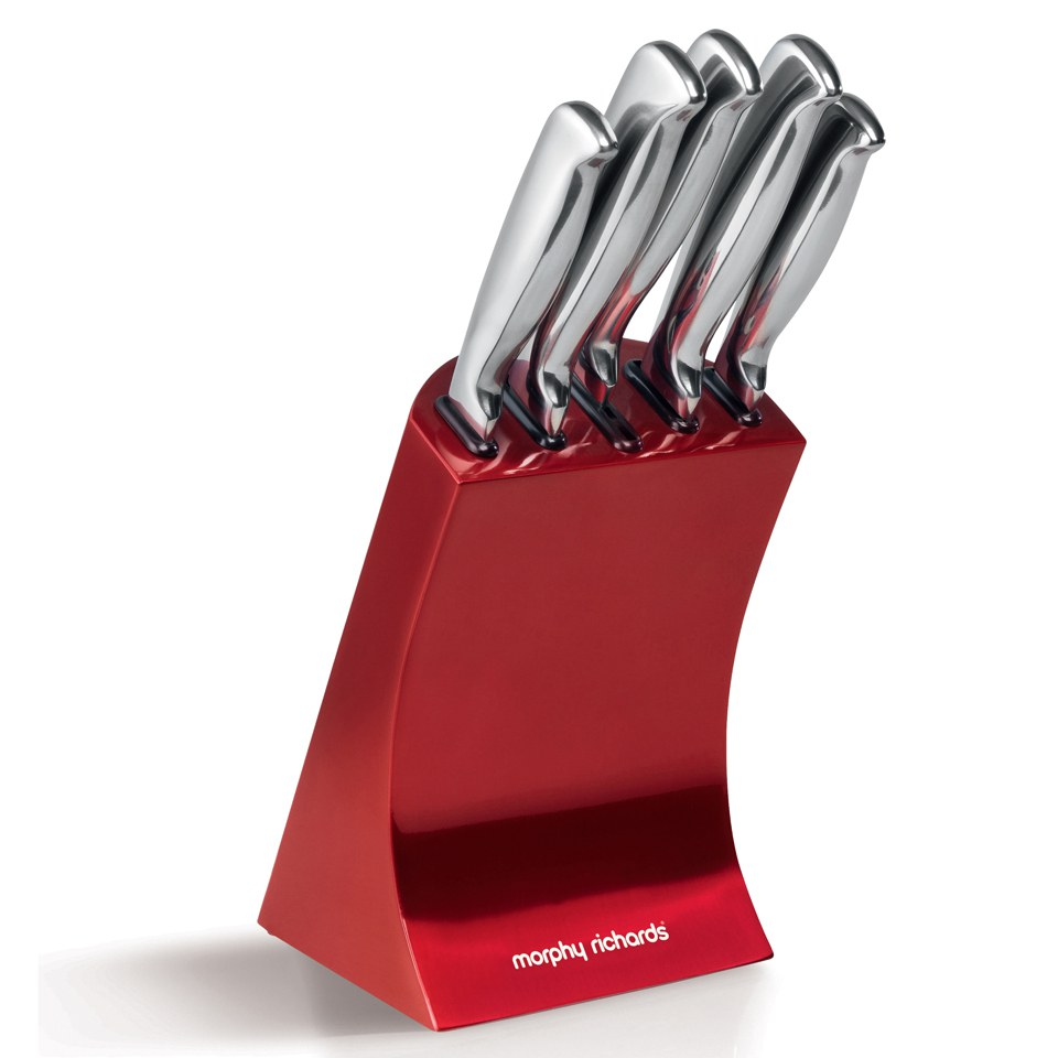 morphy richards 46291 5 piece knife block red iwoot red ceramic kitchen knives rocknife ceramic knives