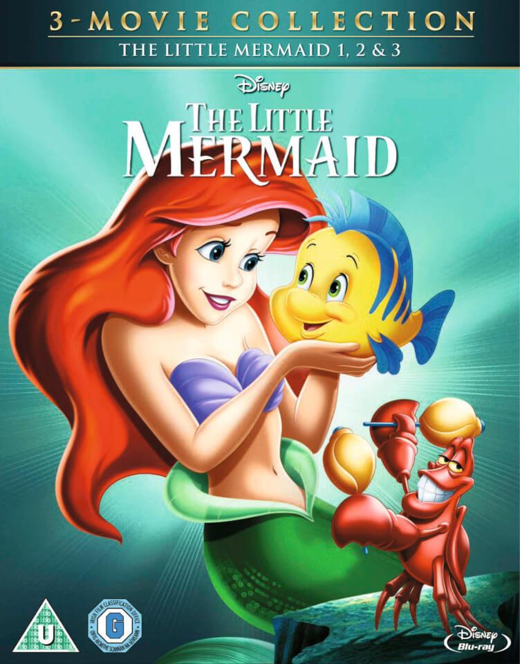 The Little Mermaid 1 3 Blu Ray Zavvi