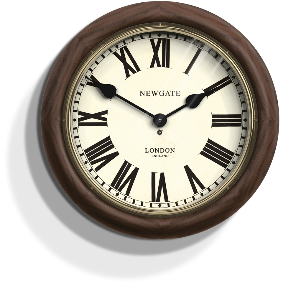 newgate-the-kings-cross-station-wall-clock-brown