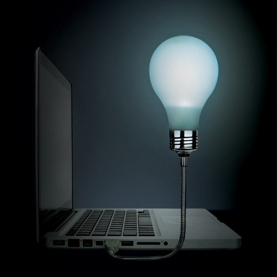 """USB Glühbirne Mir geht ein Licht auf"""""""