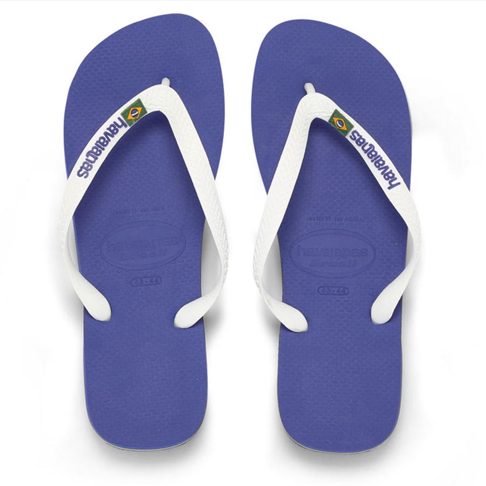 05e9438c6807e ... EAN 7895265369831 product image for Havaianas Unisex Brasil Logo Flip  Flops - Marine Blue - EU ...