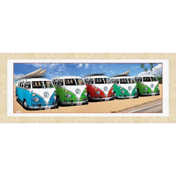 vw-californian-camper-campers-beach-30-x-12-framed-photographic