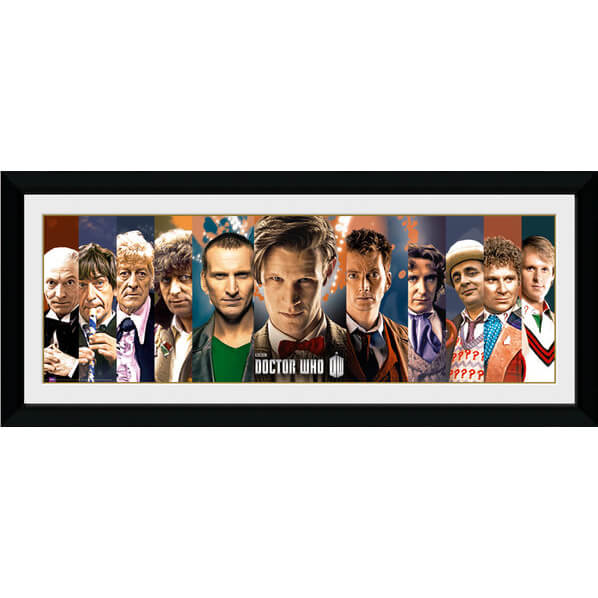 doctor-who-11-doctors-30-x-12-framed-photographic