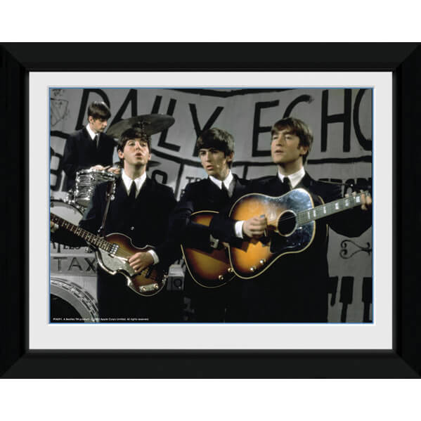 the-beatles-daily-echo-8-x-6-framed-photographic