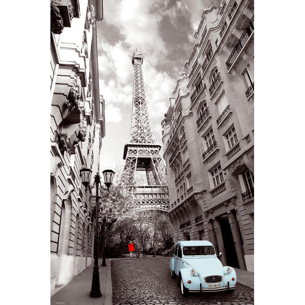 paris-red-girl-blue-car-maxi-poster-61-x-915cm