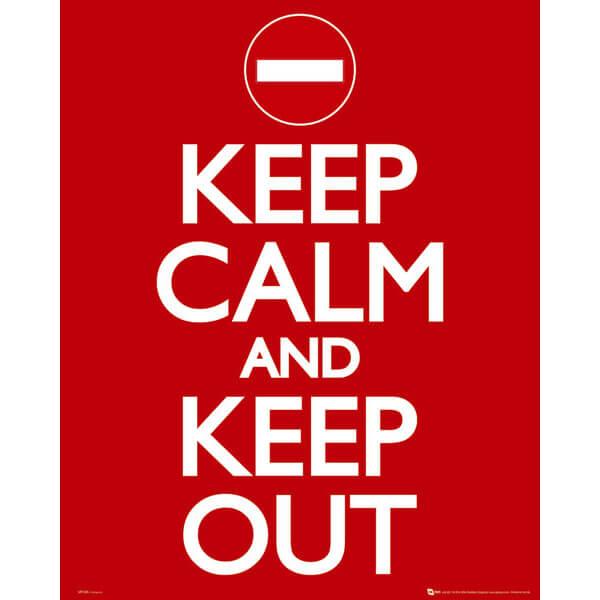 keep-calm-keep-out-mini-poster-40-x-50cm