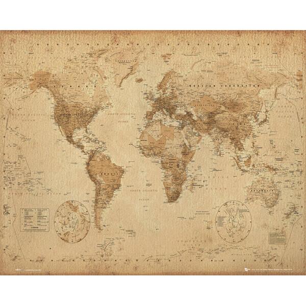 world-map-antique-style-mini-poster-40-x-50cm