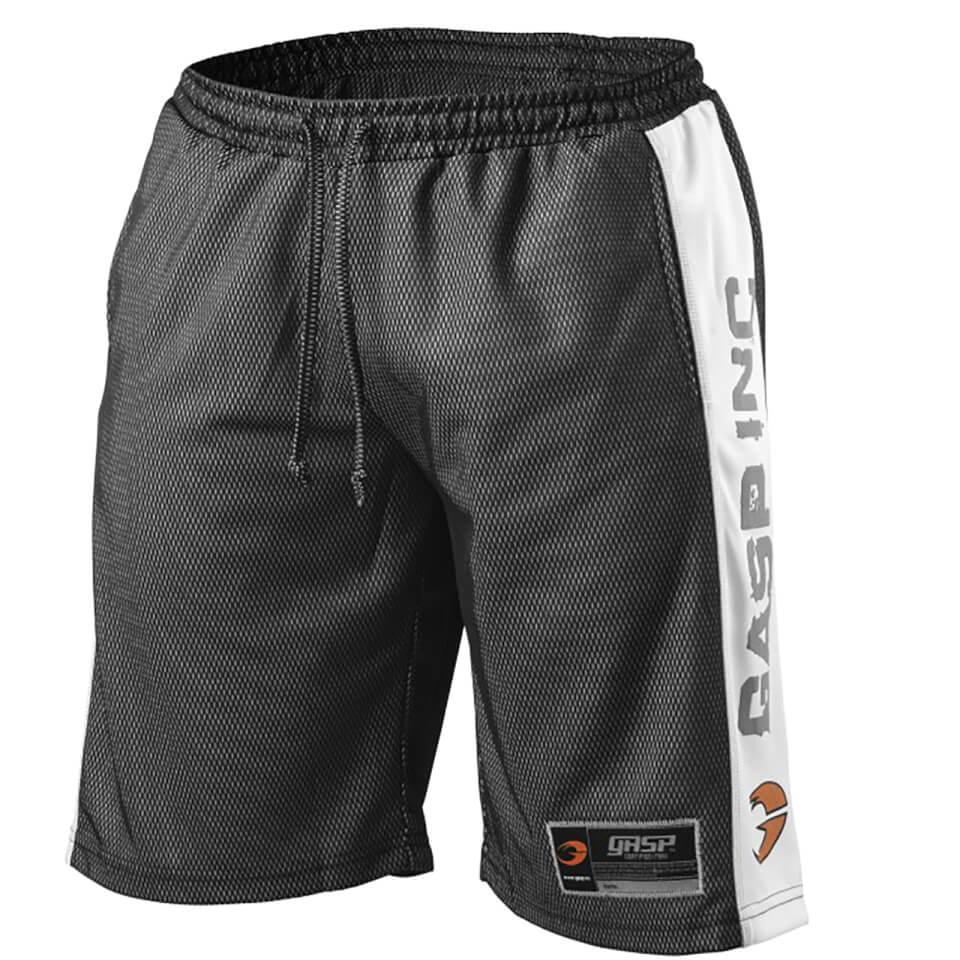 gasp-no1-mesh-shorts-blackwhite-xl-blackwhite