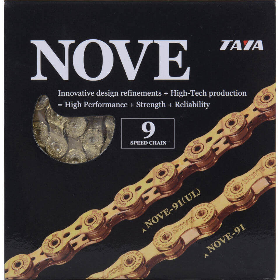 Taya Nove 91 116L 9 Speed Bicycle Chain - Ti-Gold | Chains