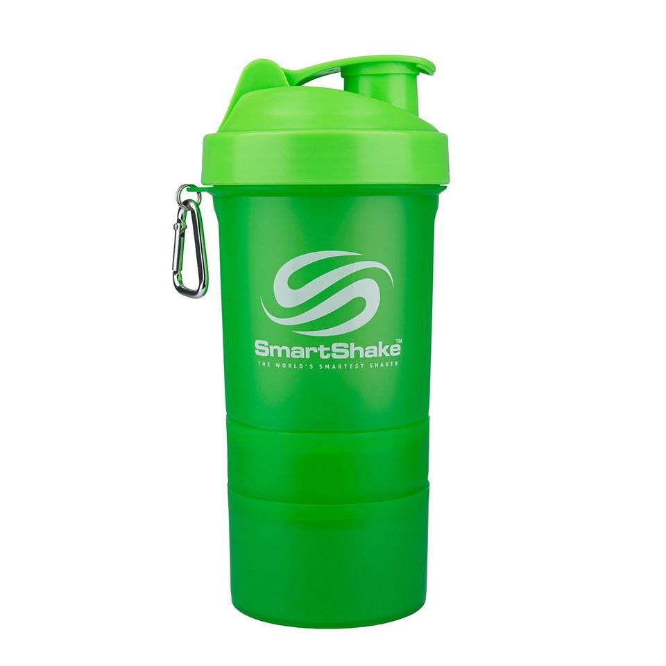 Buy Smartshake 600ml Multi Storage Shaker Bottle Neon