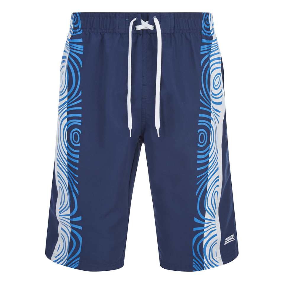 Zoggs Men S Tribal Power 21 Inch Swim Shorts Navy Mens