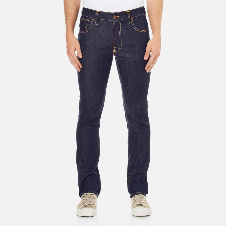 Nudie Jeans Mens Thin Finn Skinny Jeans Dry Ecru Embo W32/l34