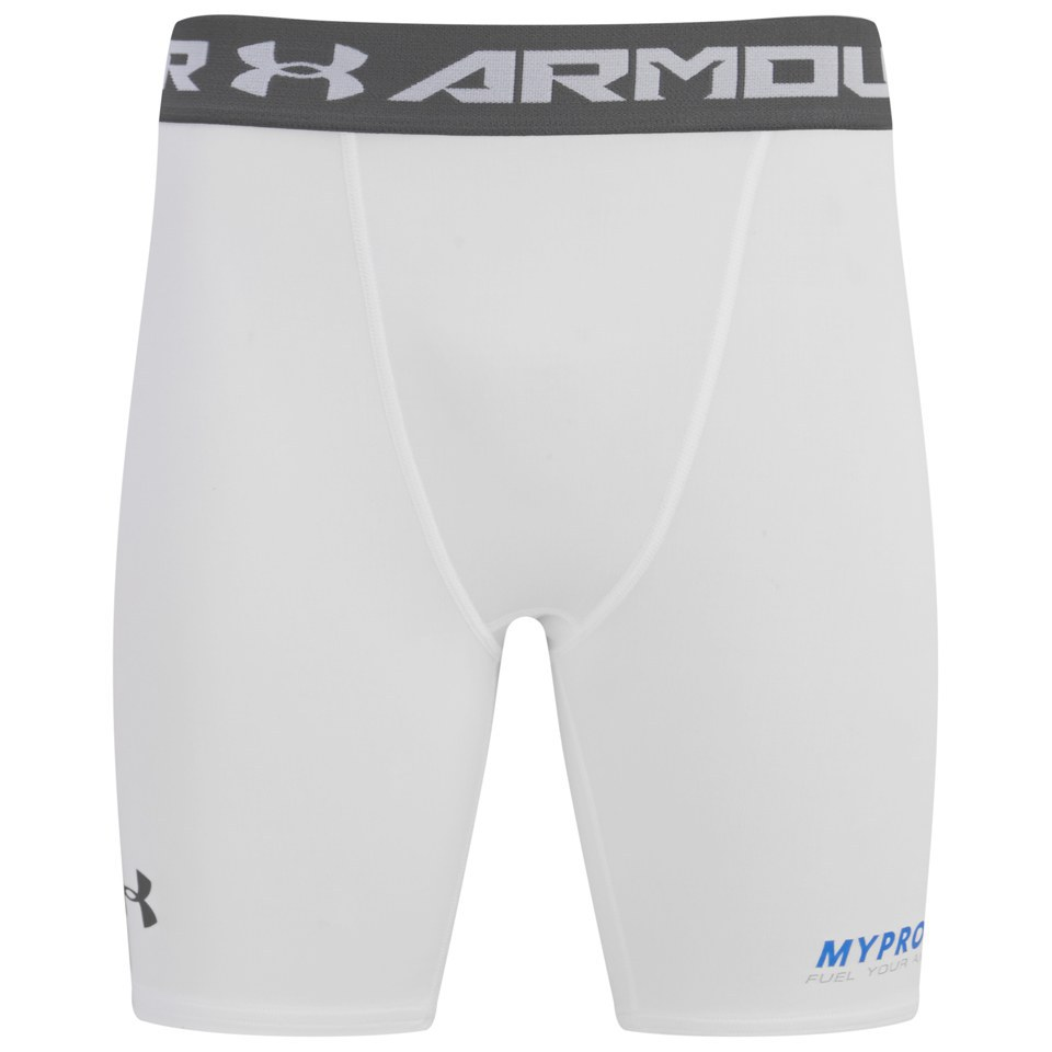 Foto Under Armour Men's HeatGear Armour Compression Shorts - White - XL Under Armour by Myprotein