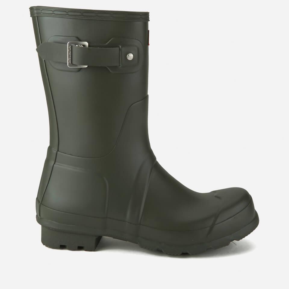 hunter-men-original-short-wellies-dark-olive-10-green