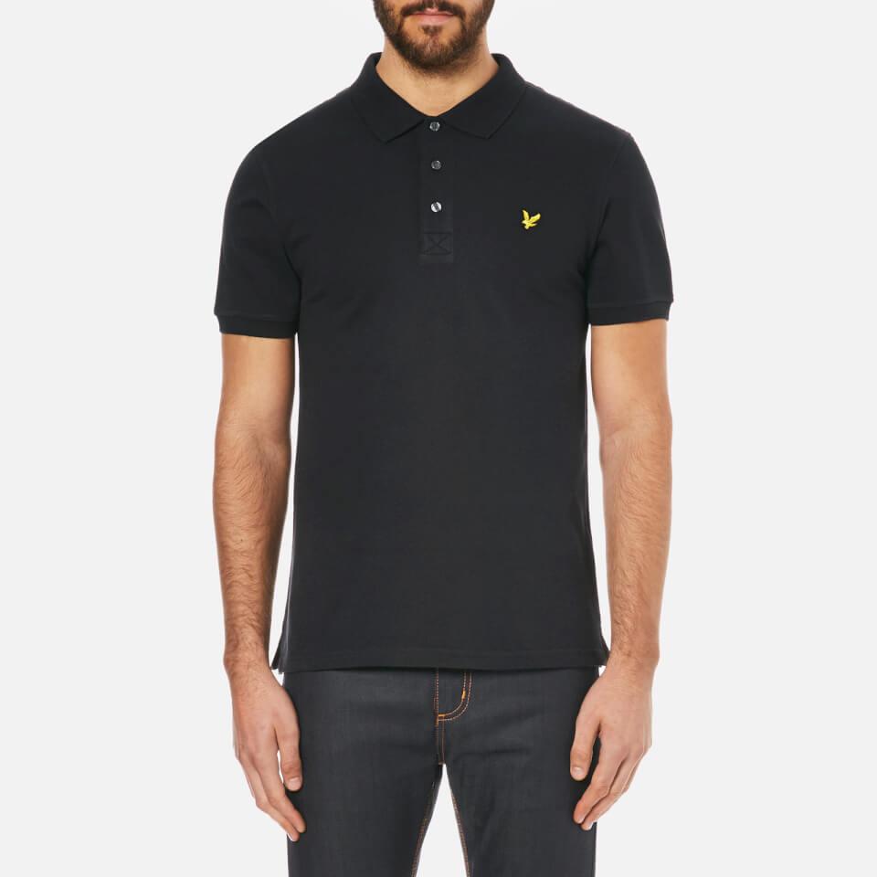 lyle-scott-men-short-sleeve-plain-pique-polo-shirt-true-black-s