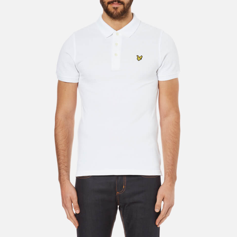 lyle-scott-men-short-sleeve-plain-pique-polo-shirt-white-s
