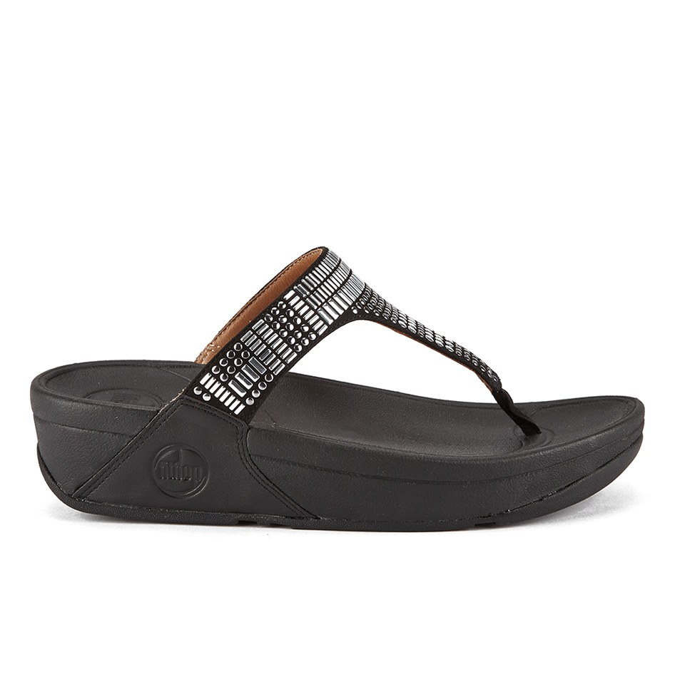 fitflop-women-aztek-chada-suede-toe-post-sandals-blacksilver-stones-5