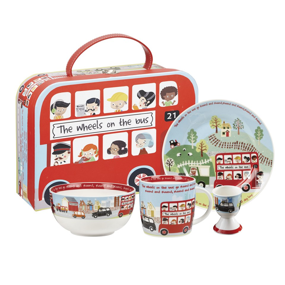 little-rhymes-wheels-on-the-bus-4-piece-breakfast-set