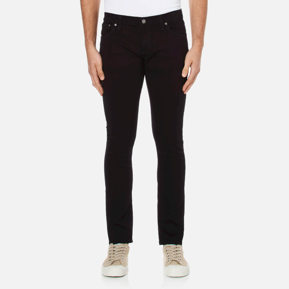 Nudie Jeans Mens Long John Skinny Jeans Black W30/l32