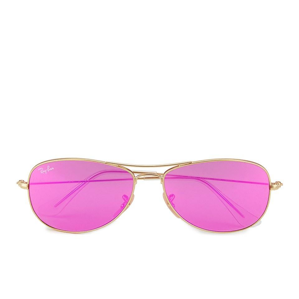 ray-ban-women-cockpit-sunglasses-matte-goldcyclamen-mirror-56mm