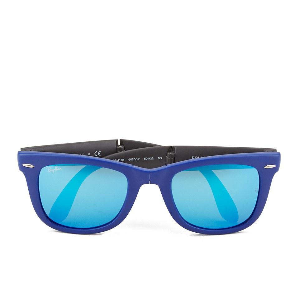 ray-ban-folding-wayfarer-sunglasses-matte-blue-50mm