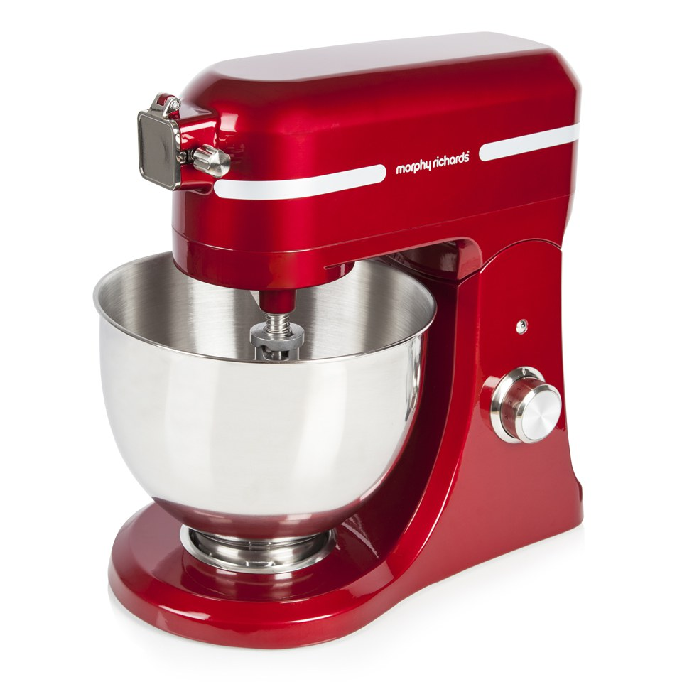 morphy-richards-400007-professional-diecast-stand-mixer-with-guard-red-800w