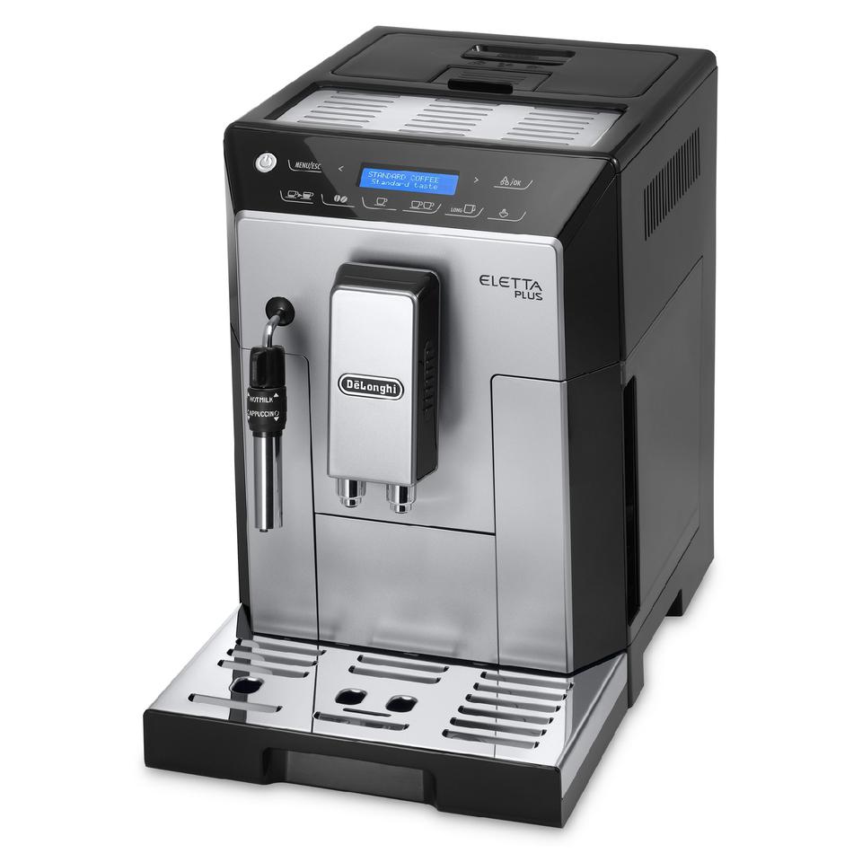 de-longhi-eletta-plus-bean-to-cup-coffee-machine-silver-black