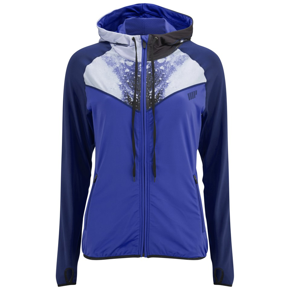 Foto Myprotein Women's Printed Panel Zip Through Hoody - Blue - UK 12