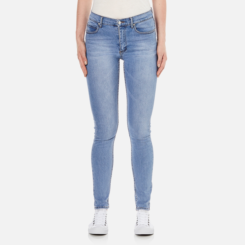 Cheap Monday Womens Second Skin High Waisted Skinny Jeans Stonewash Blue W27/l32