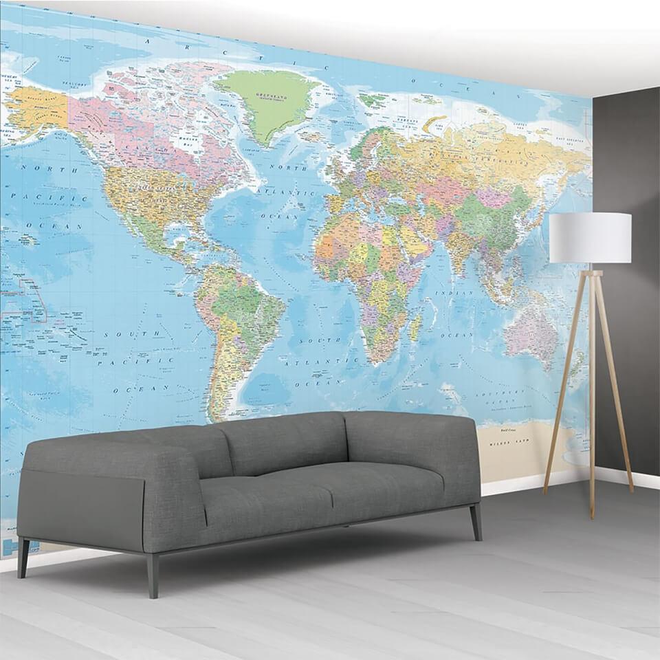 1 Wall World Map Wall Mural