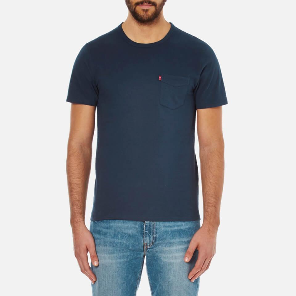 Levis Mens Sunset Pocket T-shirt Blue Xl