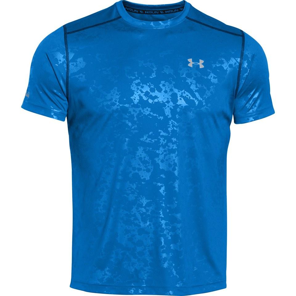 Under Armour Men S Coldblack Short Sleeve Running T Shirt Blue Jet Reflective Sports Amp Leisure Thehut Com