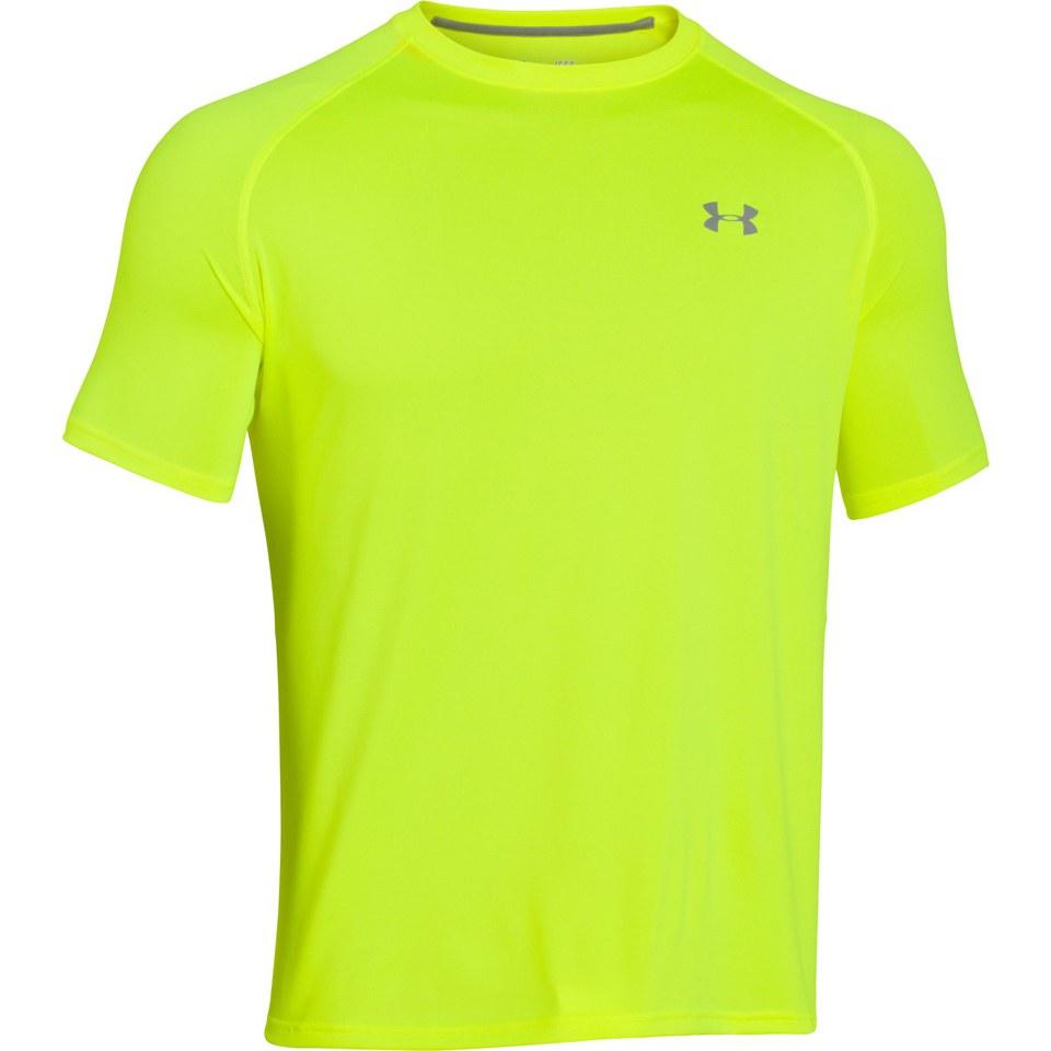 Under Armour Men S Tech T Shirt Hi Vis Yellow Sports