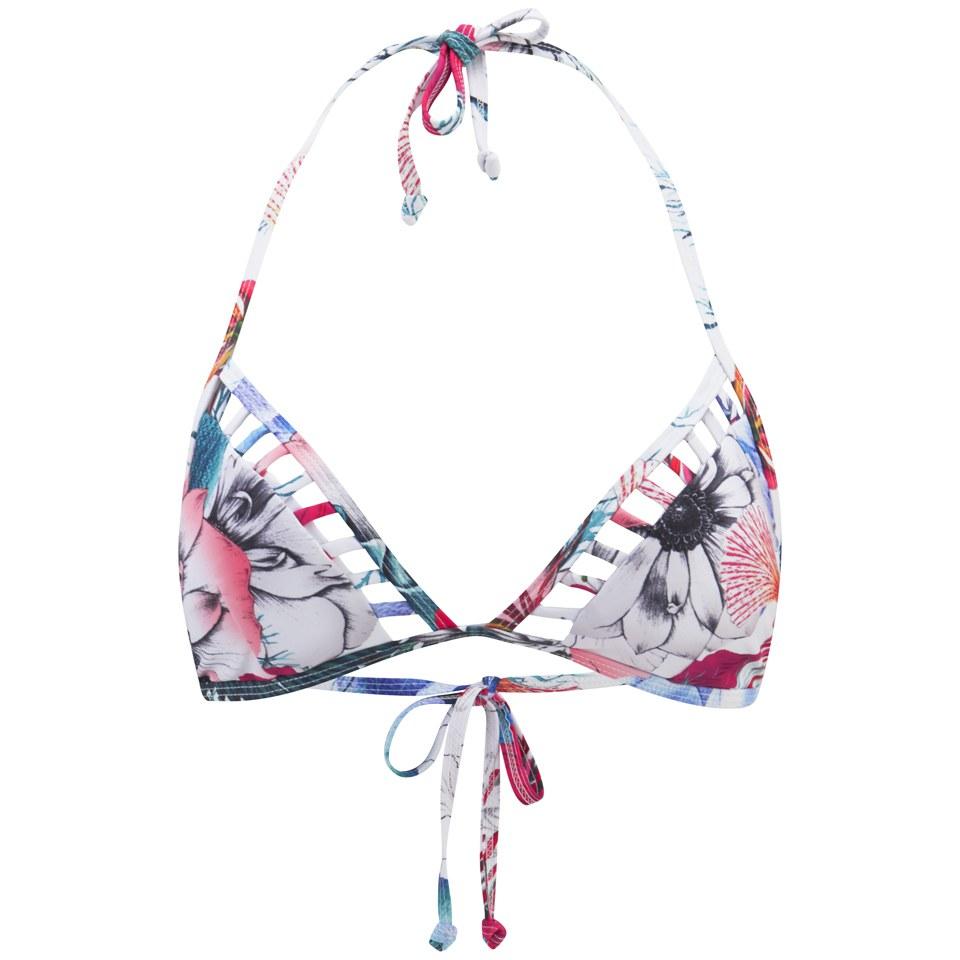 7e1c533b07 French Connection Women's Floral Reef Triangle Bikini Top - White/Multi  Clothing | TheHut.com