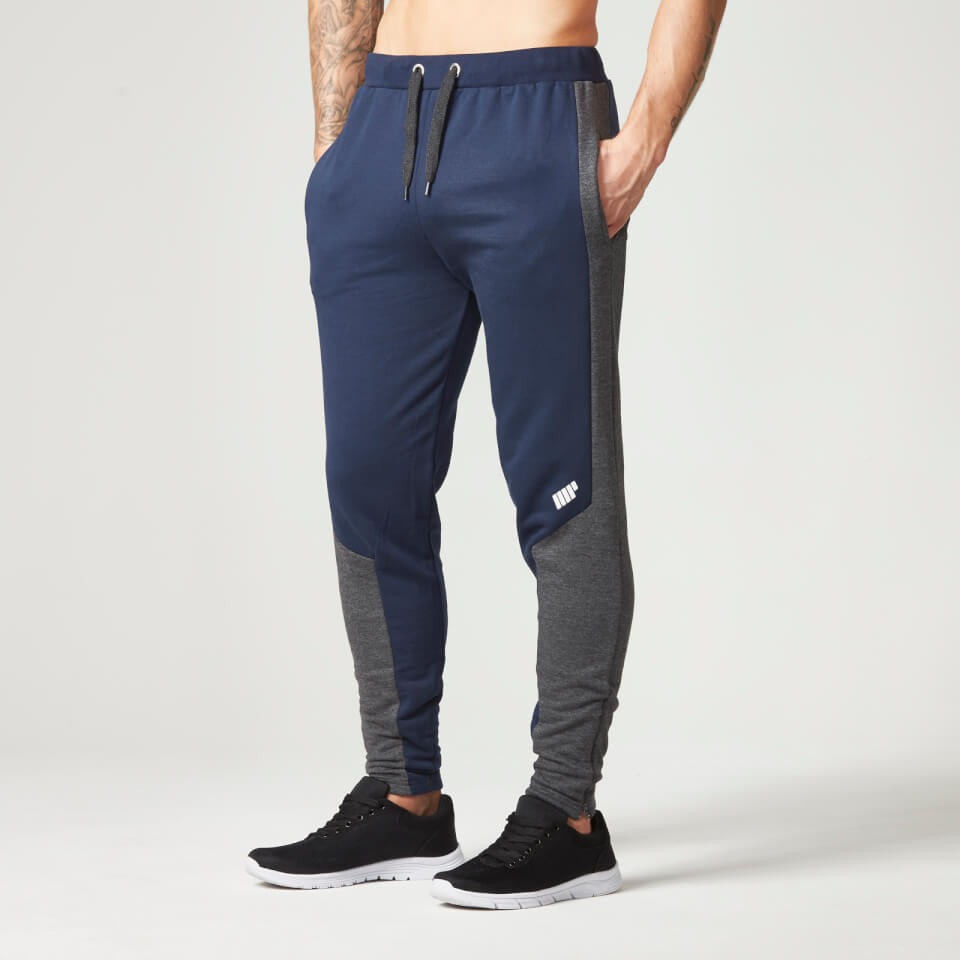 Foto Myprotein Men's Panelled Slimfit Sweatpants with Zip - Navy - XXL