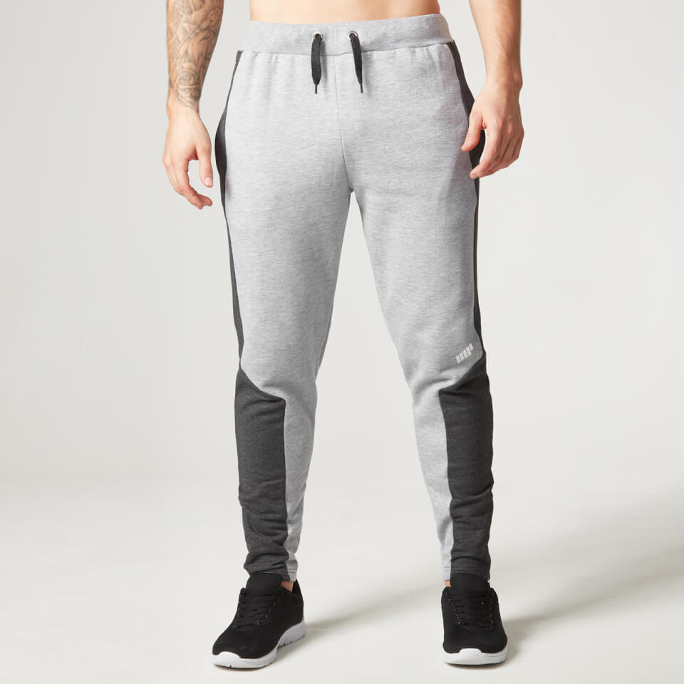 Foto Myprotein Men's Panelled Slimfit Sweatpants with Zip - Grey Marl - M