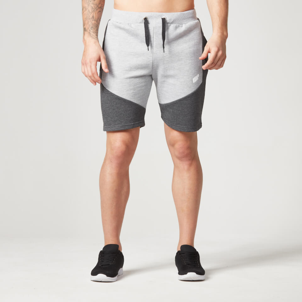 Foto Myprotein Men's Panelled Sweatshorts - Grey Marl - L