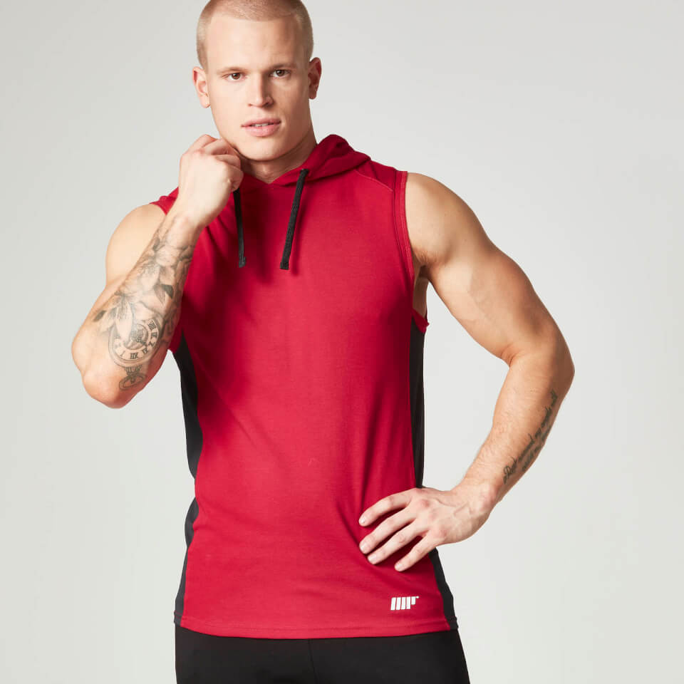 Foto Myprotein, Men's Hooded Singlet, Red - XL Vesti