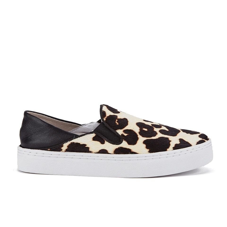 senso women 39 s ally iv leopard print pony slip on trainers chalk free uk delivery over 50. Black Bedroom Furniture Sets. Home Design Ideas