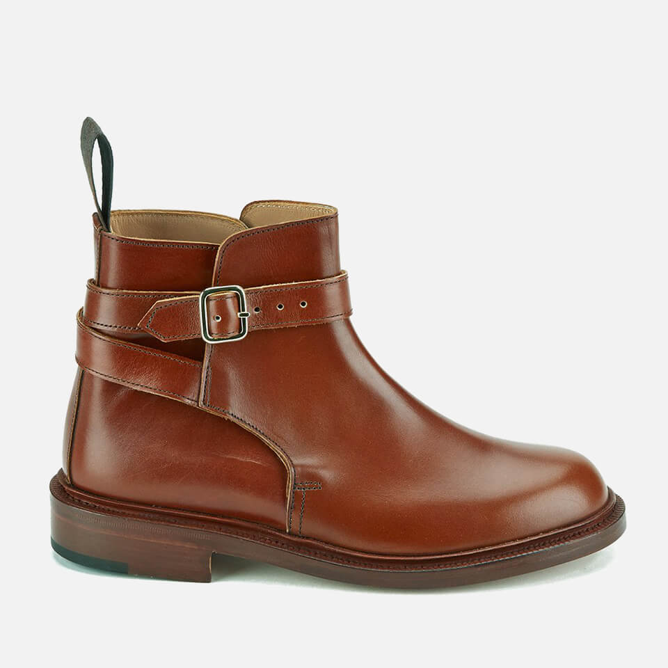 Knutsford By Trickers Womens Leather Buckle Detail Ankle Boots Marron Uk 4