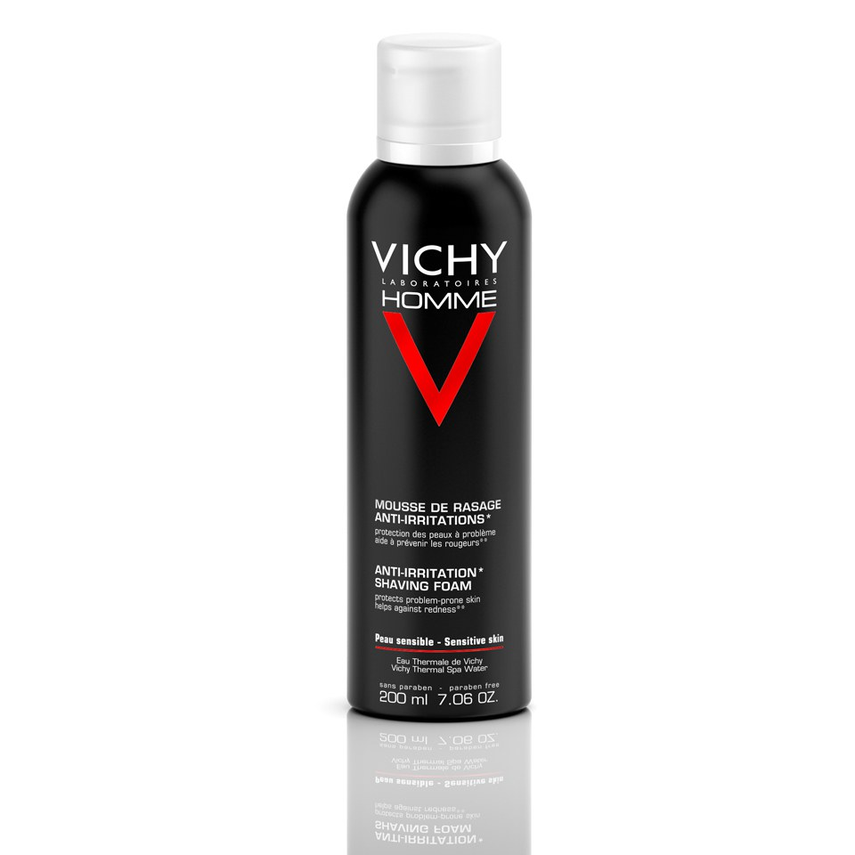 Vichy Homme Shaving Foam for Sensitive Skin 200ml