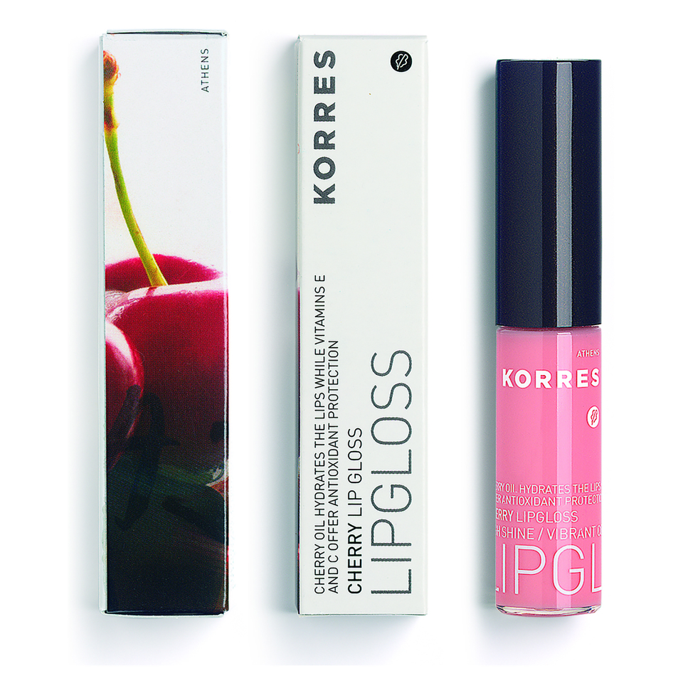 Korres Cherry Lip Gloss – Coral Coral