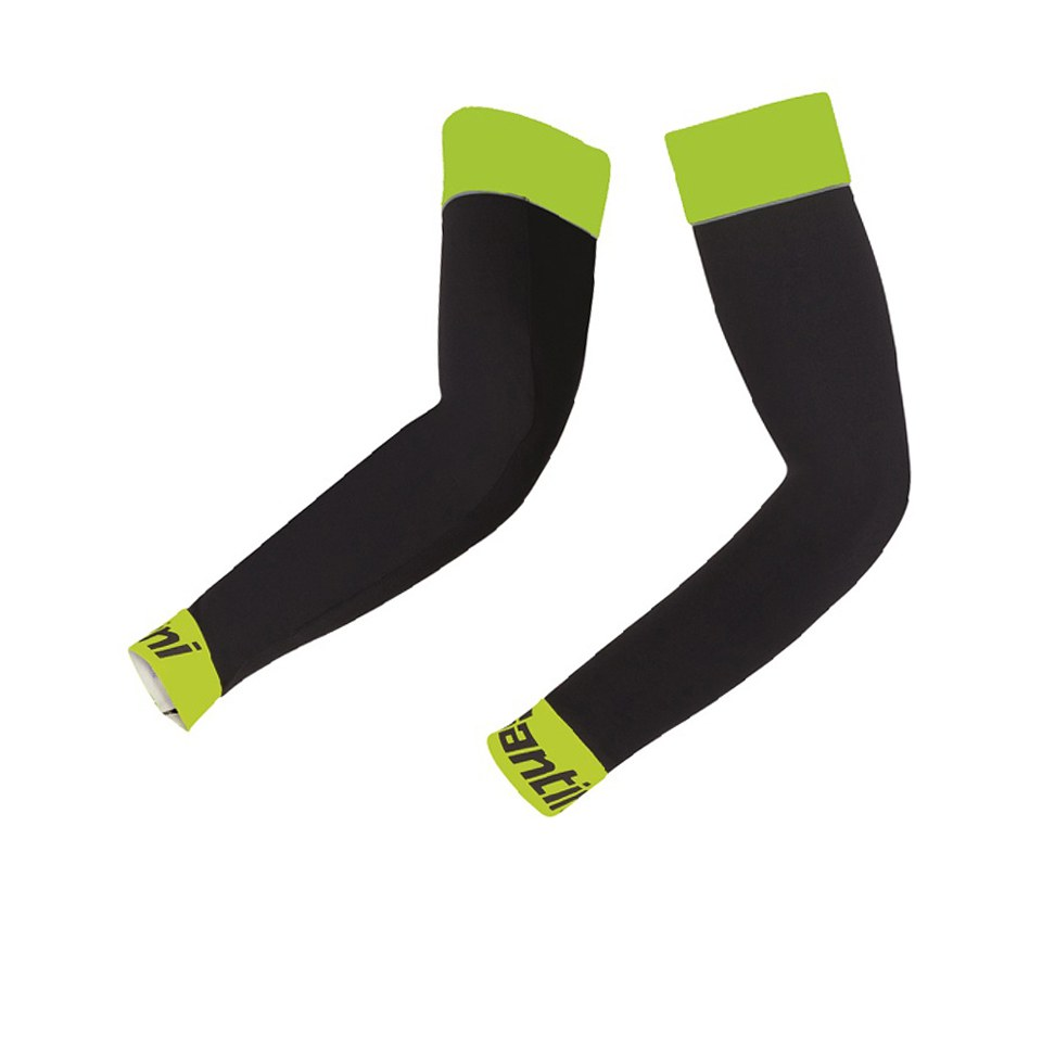 santini-be-hot-arm-warmers-black-yellow-m-l