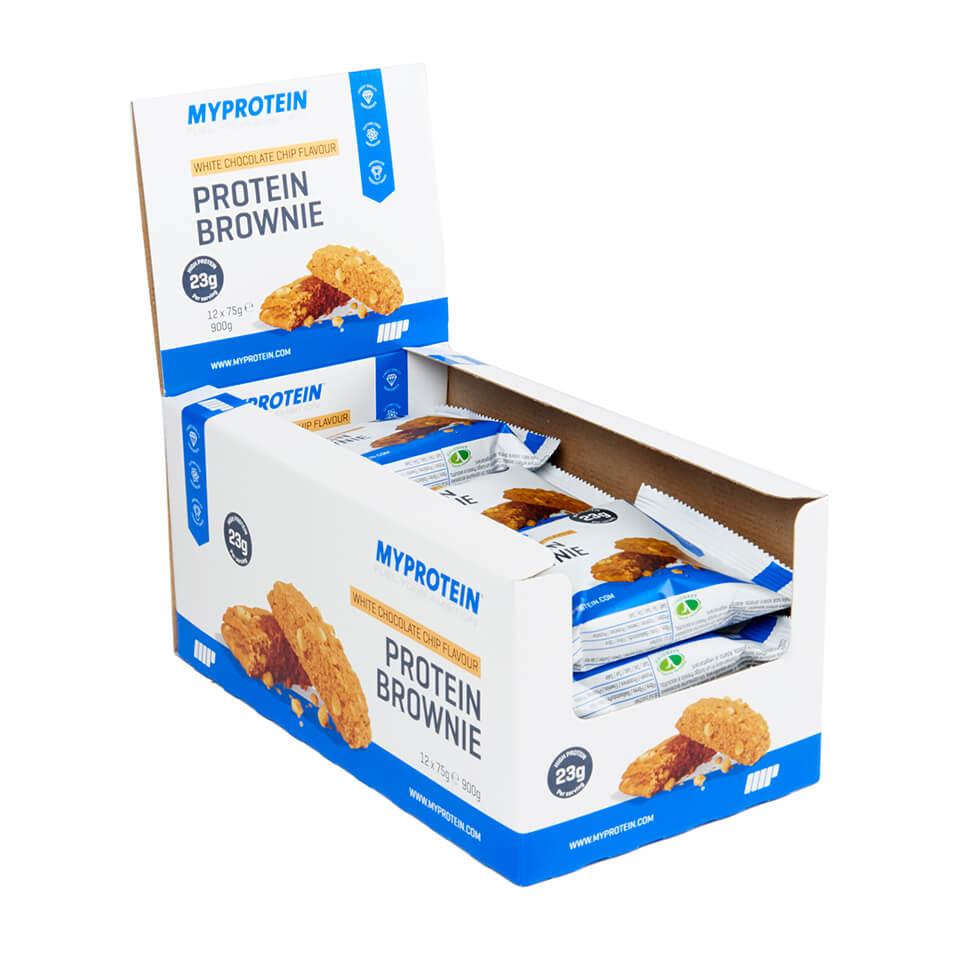 Foto Brownie Proteico - 12 x 75g - Scatola - Cioccolato Bianco Myprotein Nutrizione sportiva