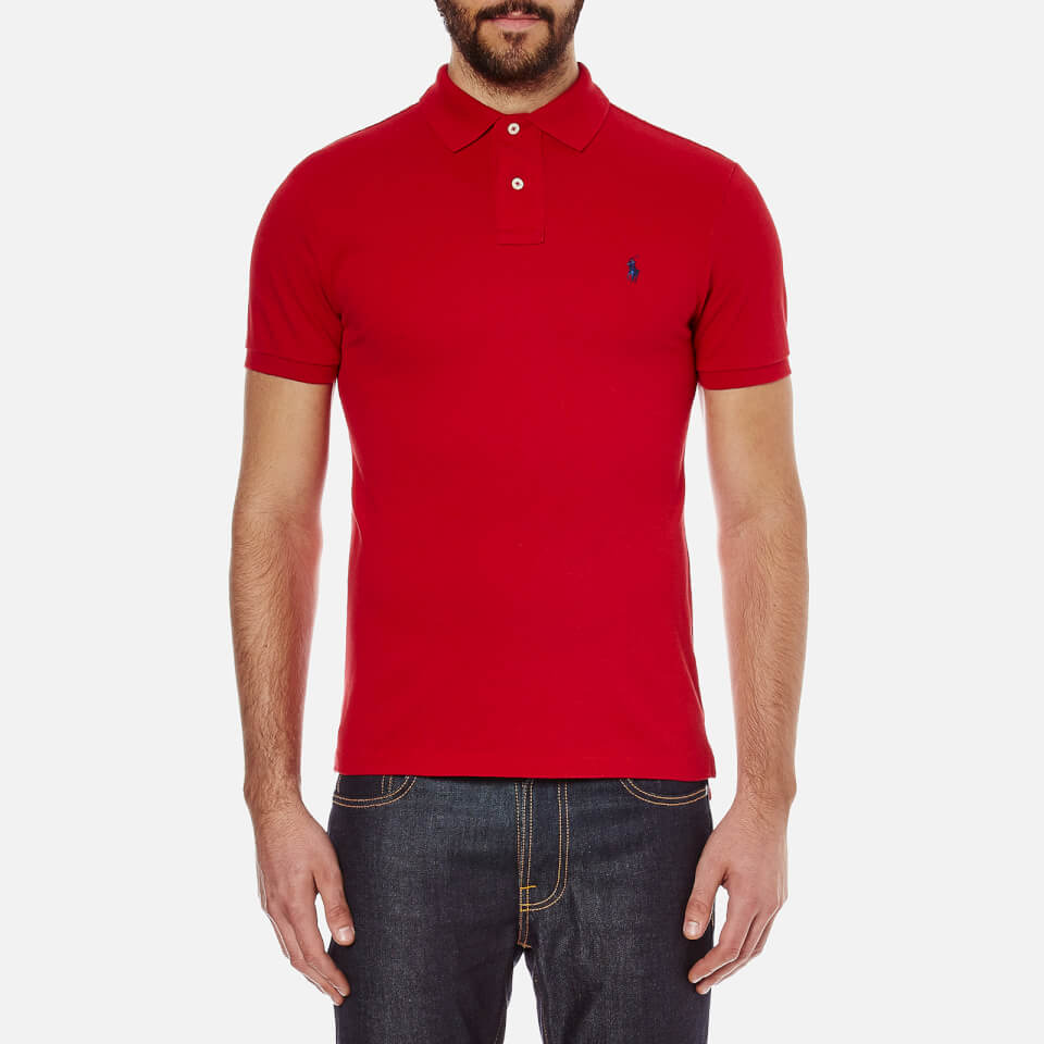 Polo ralph lauren men 39 s slim fit polo shirt red free for Mens slim polo shirts