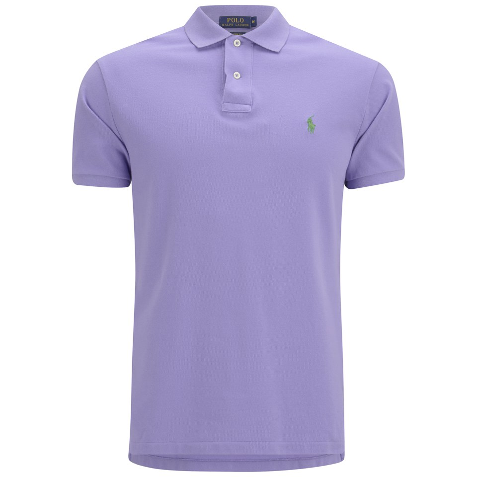 Polo ralph lauren men 39 s custom fit pique polo shirt pure for Staples custom t shirts