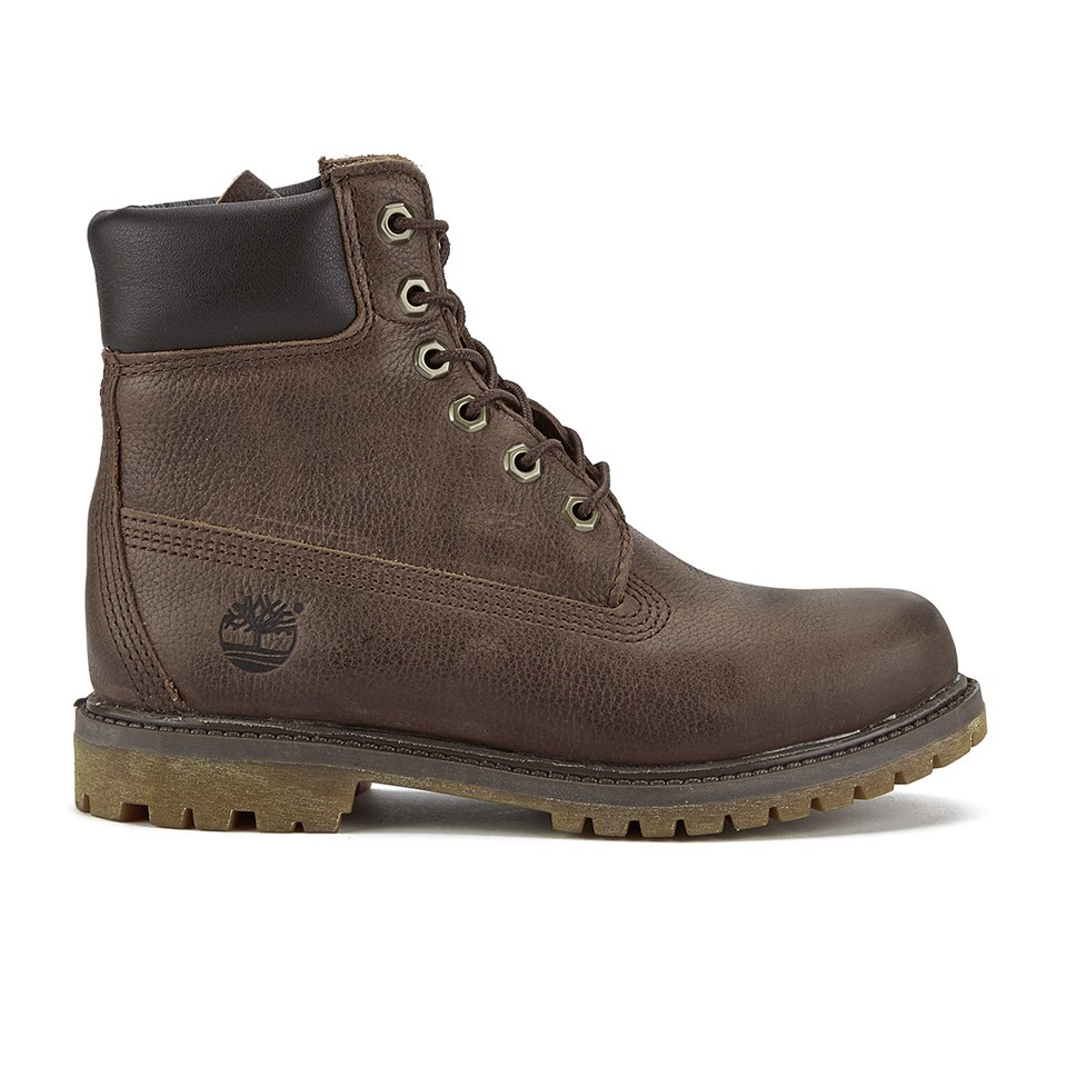 Timberland Women S 6 Inch Premium Leather Boots Dark
