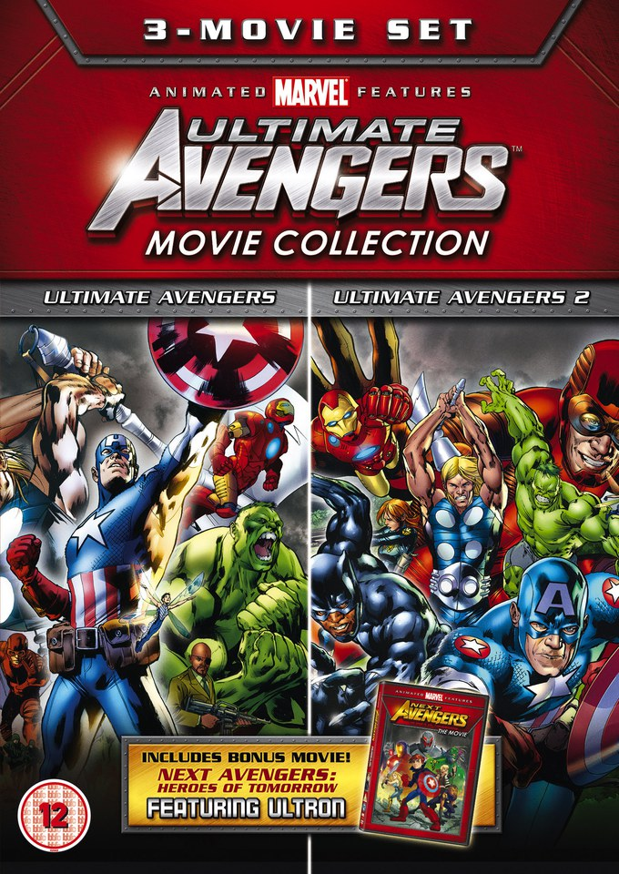 Ultimate Avengers Triple Dvd Zavvi